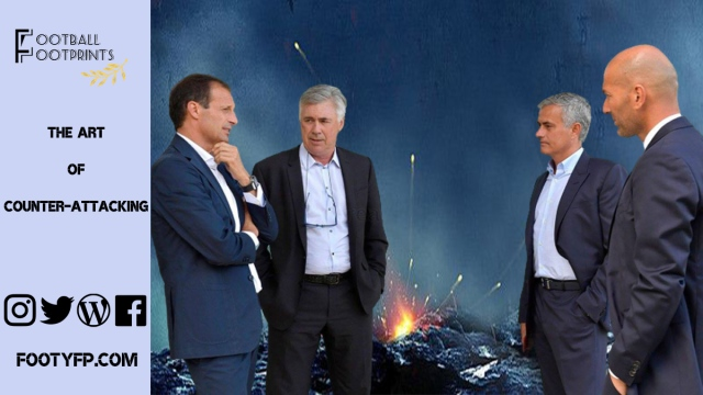 Allegri, Ancelotti, Mourinho and Zidane, masters of the counterattacking football
