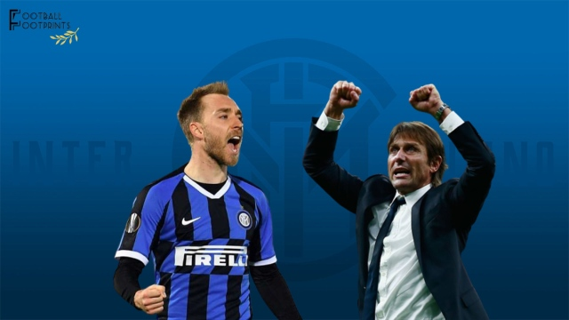 Antonio Conte and Christian Eriksen at Inter