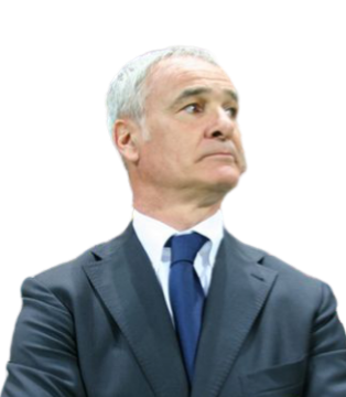 Claudio Ranieri w/ background