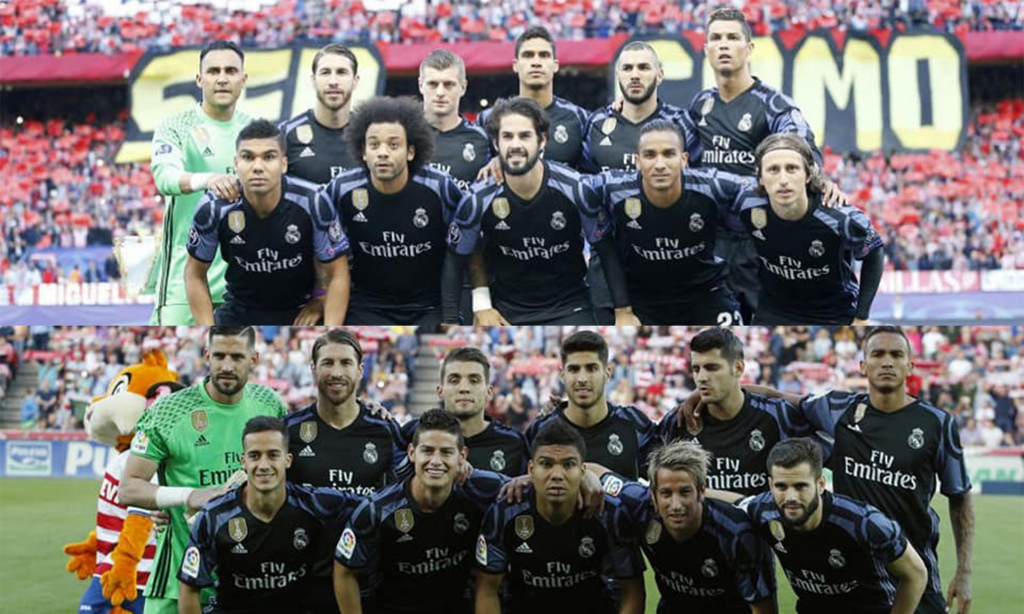 Real Madrid's squad depth in 2017